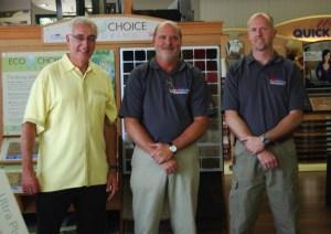 Ron with Wayne Whiteside and Trey Cohen at Lexington Paint & Flooring, Lexington, SC