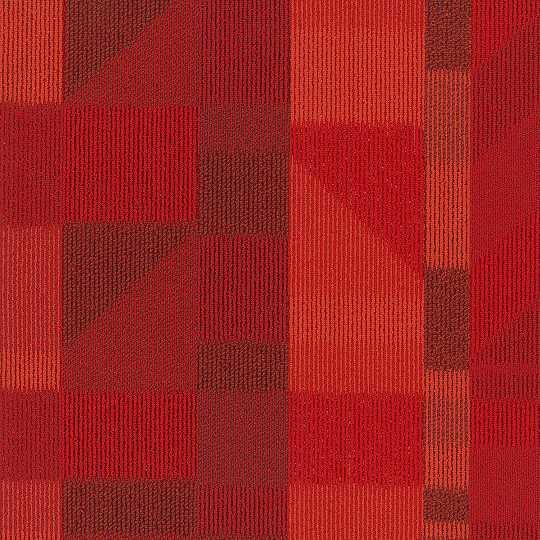 shaw impact carpet tile red 24 x 24