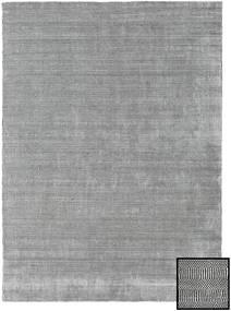 bambou grass gris tapis 240x340 moderne gris clair gris fonce laine soie de bambou inde