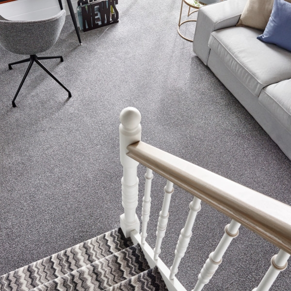 Moorland Twist Carpet Buy Online Carpetways Direct Ltd | Zig Zag Carpet On Stairs | American Style | Asymmetric Stair | Before And After | Navy Pattern | Grey