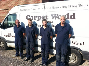 Our team of expert carpet fitters