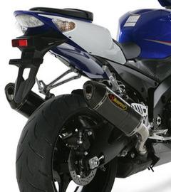 akrapovic street legal exhaust for suzuki gsxr 1000 07 08 two titanium carbon sleeve end cap mufflers