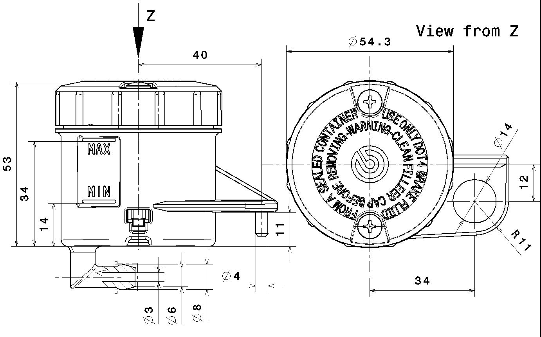 Brembo Radial Brake Master Cylinder Rcs19pk
