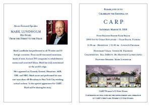 CARP 2018 Spring Luncheon Invitation