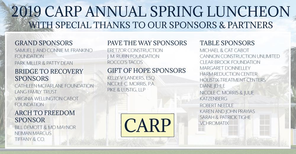 CARP 2019 Sponsors