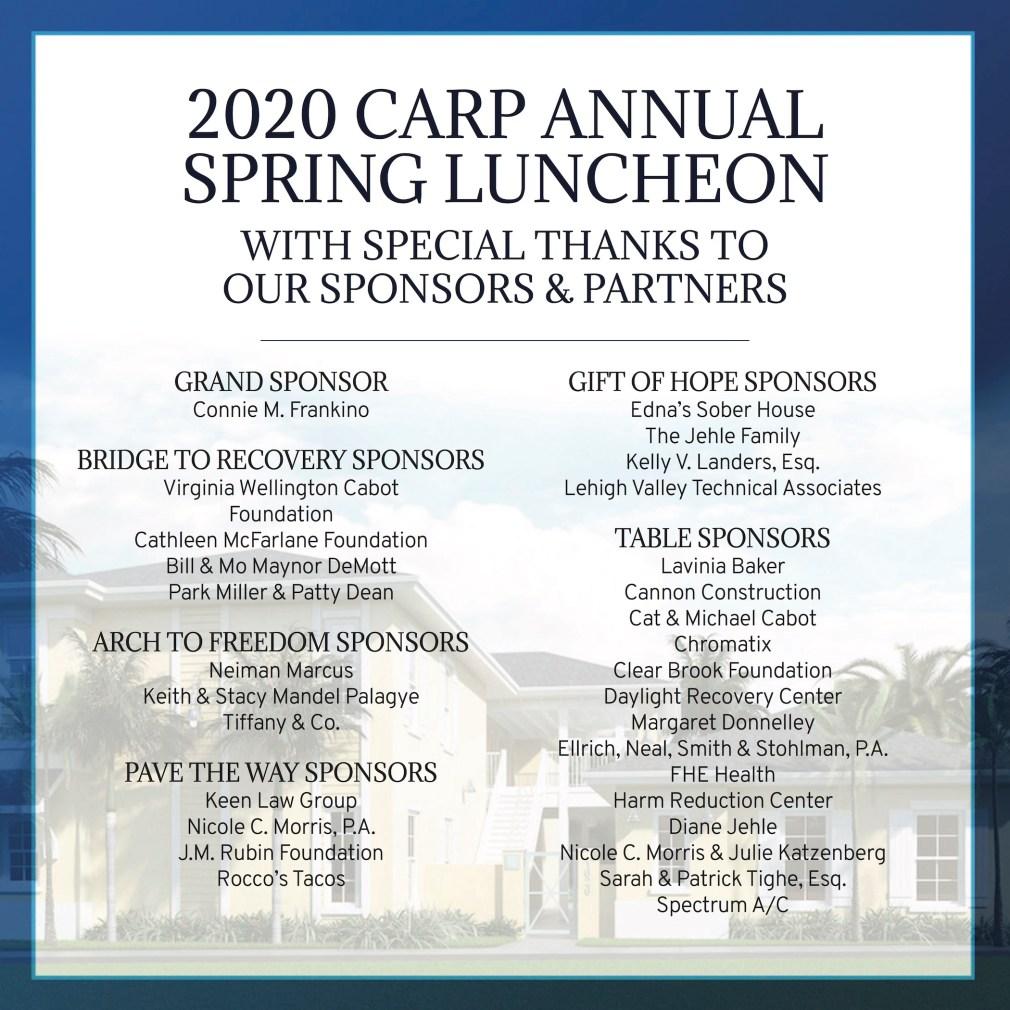 CARP 2020 Sponsors