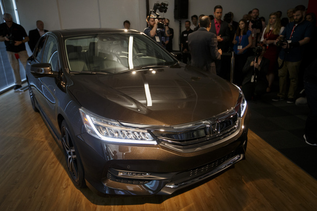 New 2016 Honda Accord is unveiled during a press event on Thursday, July 23, 2015 at Honda's new research and development facility in Mountain View. (Dai Sugano/Bay Area News Group)