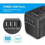 Amoner Universal Travel Adapter with 3x USB-A and 1x USB-C ports Review