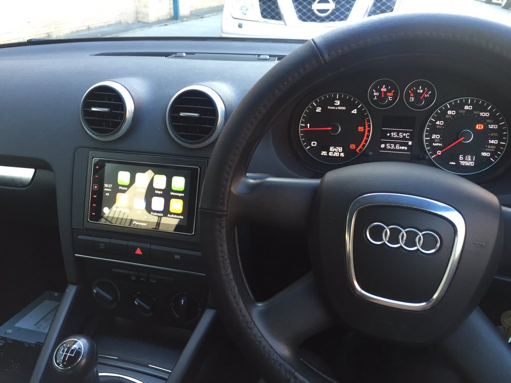 carplay installs pioneer sph da120 in an audi a4. Black Bedroom Furniture Sets. Home Design Ideas