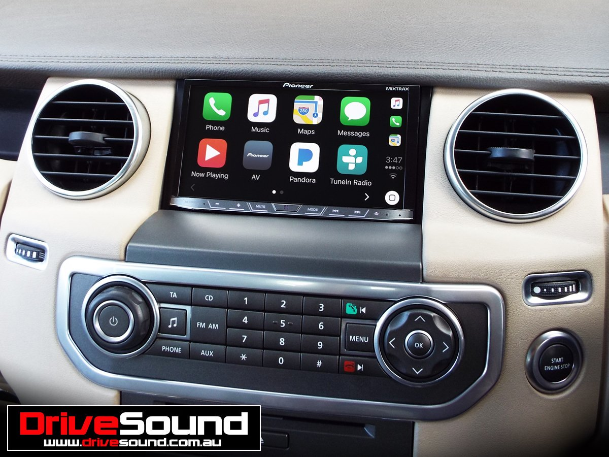 carplay installs pioneer avic f77dab in a land rover. Black Bedroom Furniture Sets. Home Design Ideas