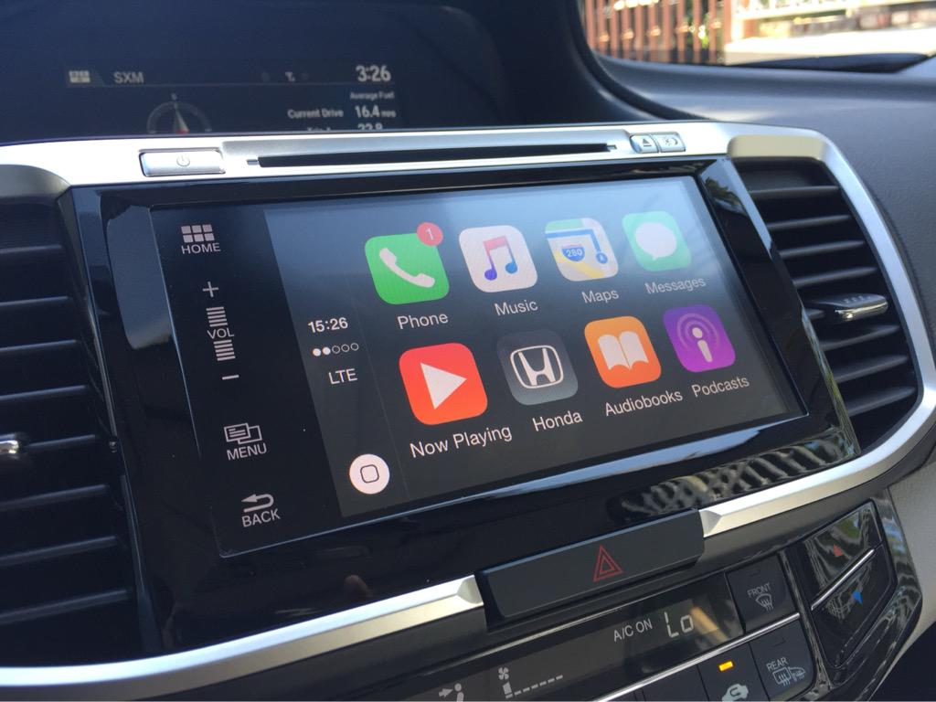 carplay installs factory fitted honda accord 2016