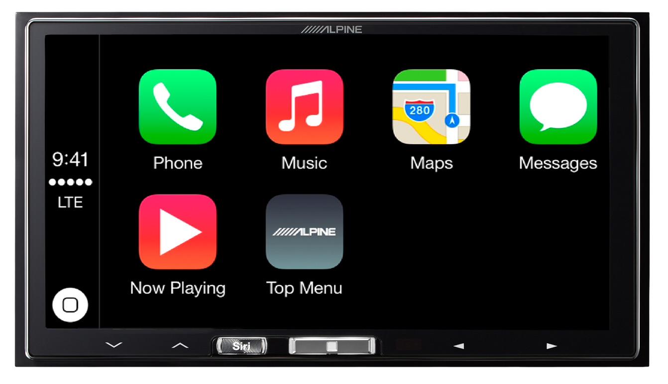 alpine ilx 700 ilx 007 carplay receiver review carplay. Black Bedroom Furniture Sets. Home Design Ideas