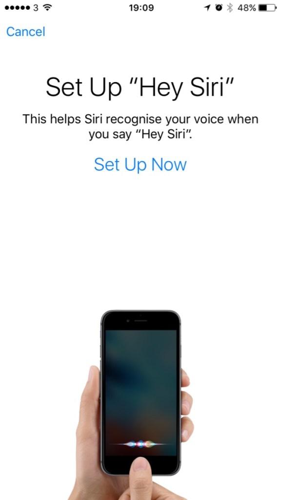Setup Hey Siri