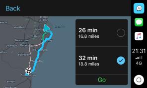 Waze CarPlay Routes