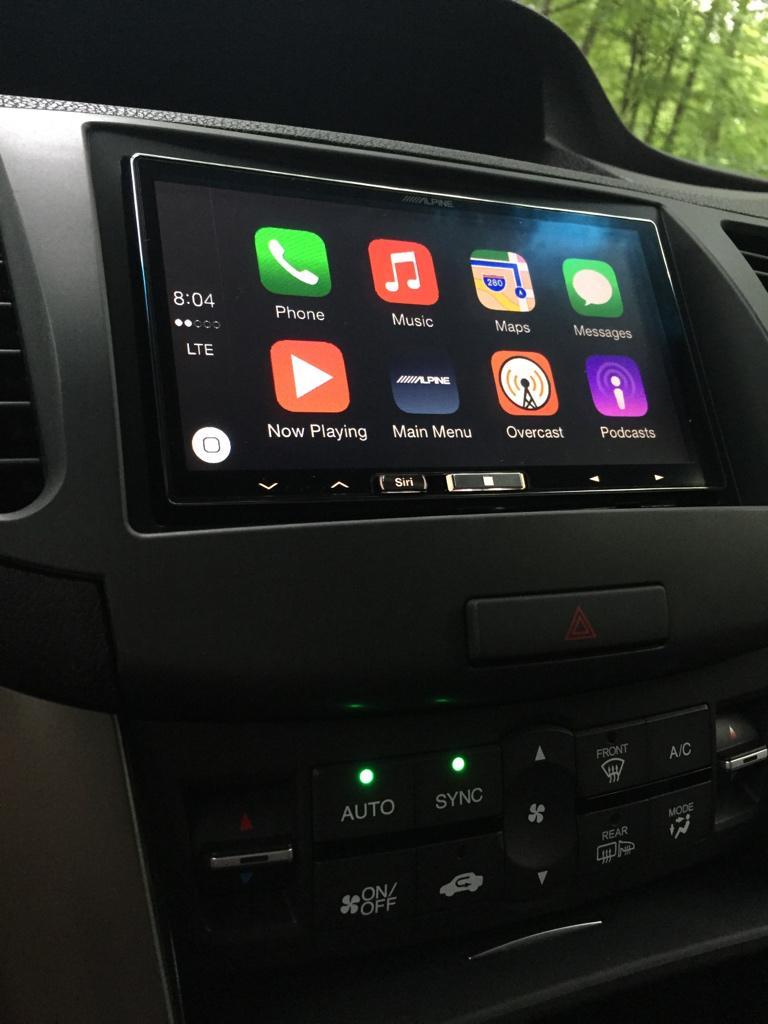 carplay installs alpine ilx 007 ilx 700 in a acura tsx carplay life apple carplay news. Black Bedroom Furniture Sets. Home Design Ideas