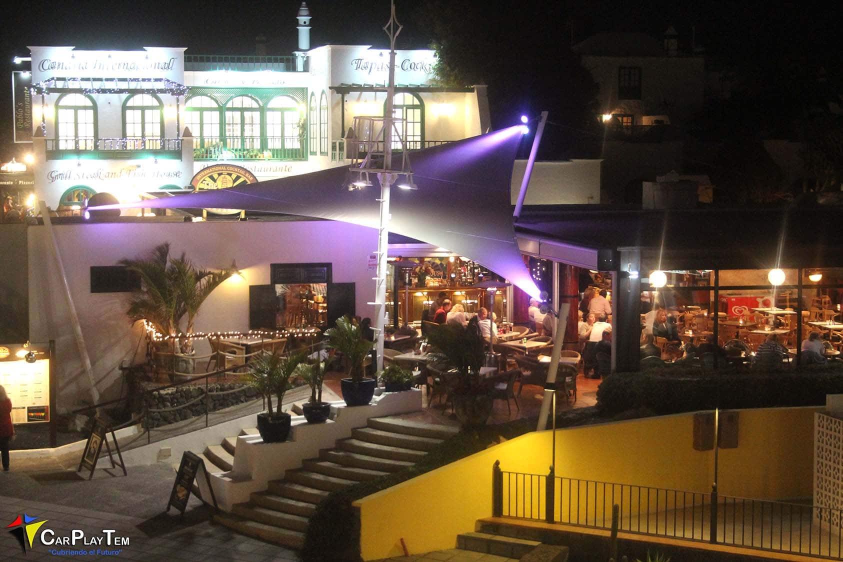 Velas Traingulares para Pub Light House en Costa Teguise Lanzarote