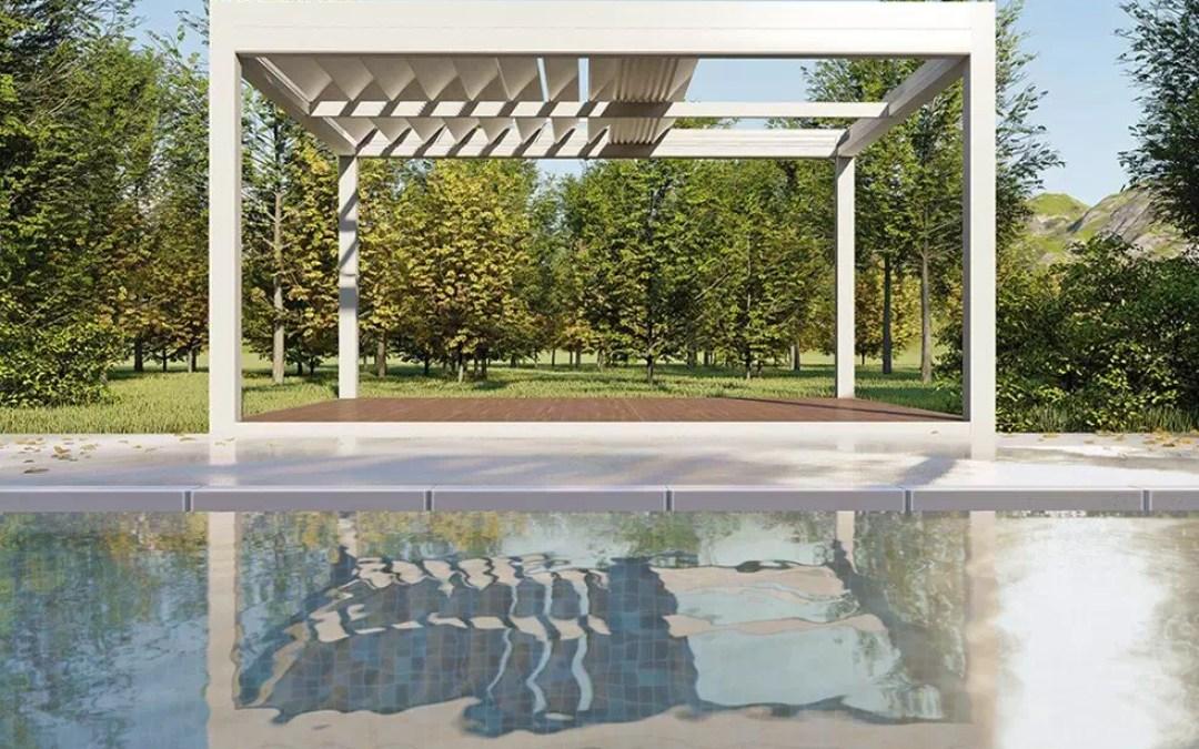 Soluciones para crear ambientes en espacios abiertos con Pérgolas Bioclimáticas.