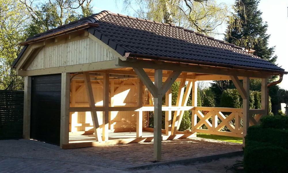 Carports Amp Holzgaragen Auch Als Fachwerk Zum Selberbauen