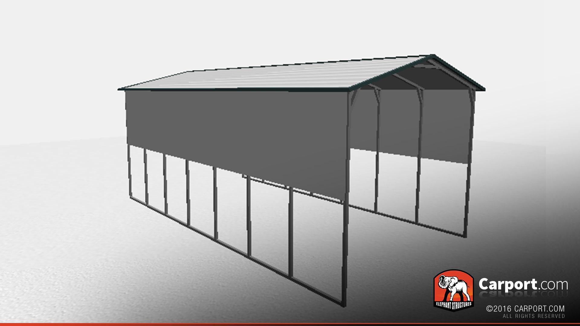 16 X 30 X 12 RV Carport With Extra Panels Shop Metal Buildings Online