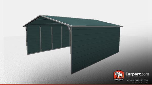 18 X 21 X 6 Double Wide Boxed Eave Carport Shop Metal