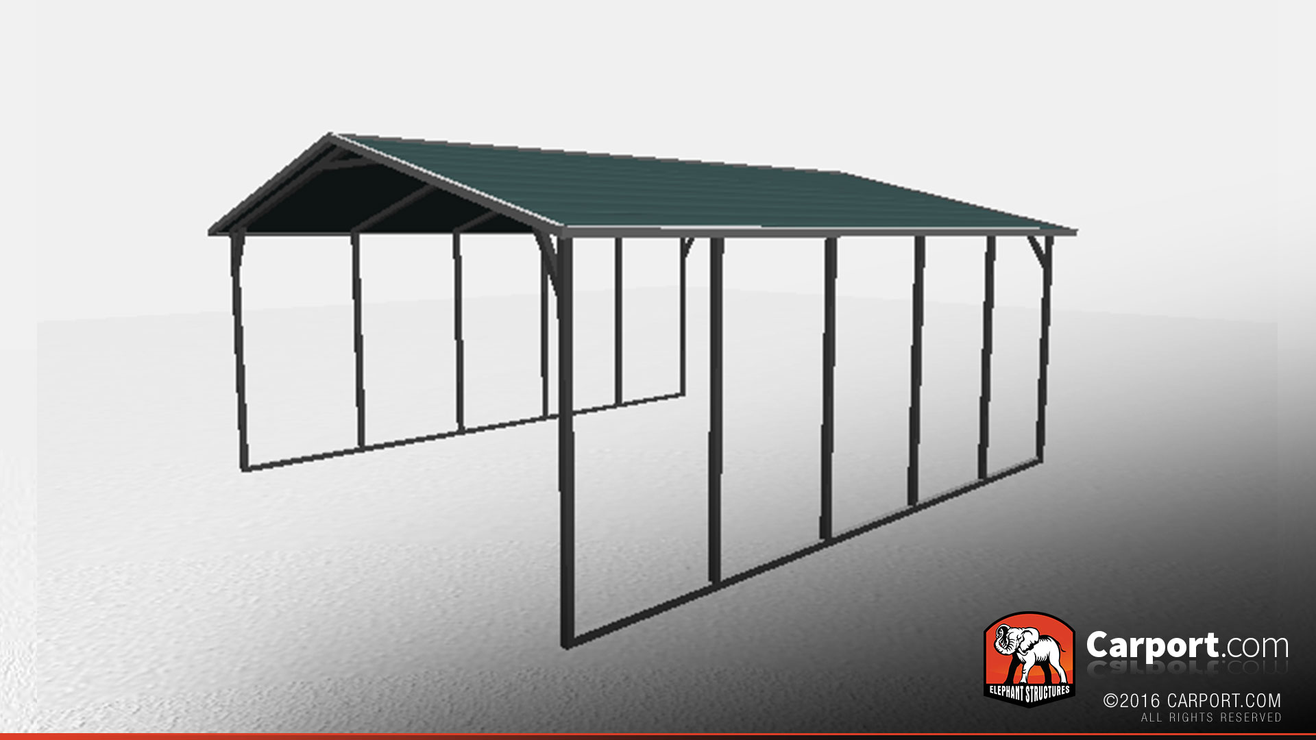 18 X 21 X 6 Strong Boxed Eave Car Shelter Boxed Eave