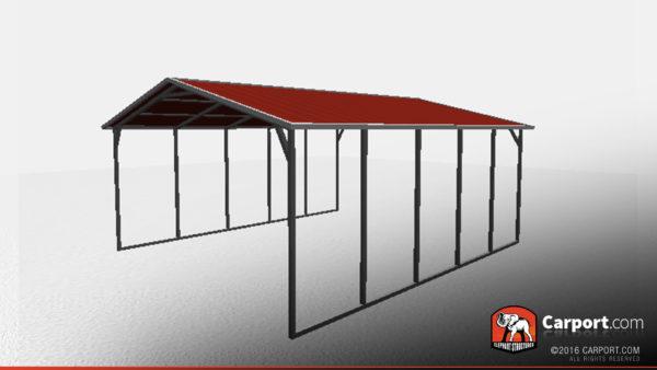 18 X 21 X 6 Sturdy Vertical Roof Metal Carport Shop