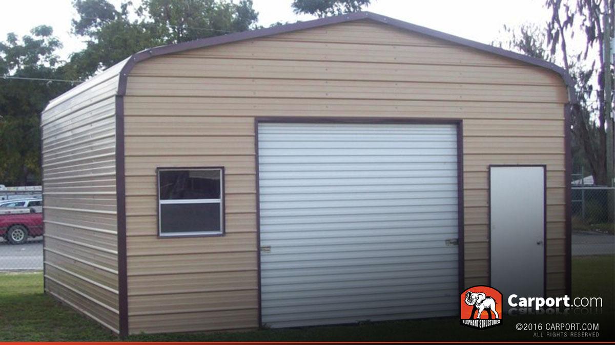 Metal Garage With Regular Roof 18 X 21 Shop Metal