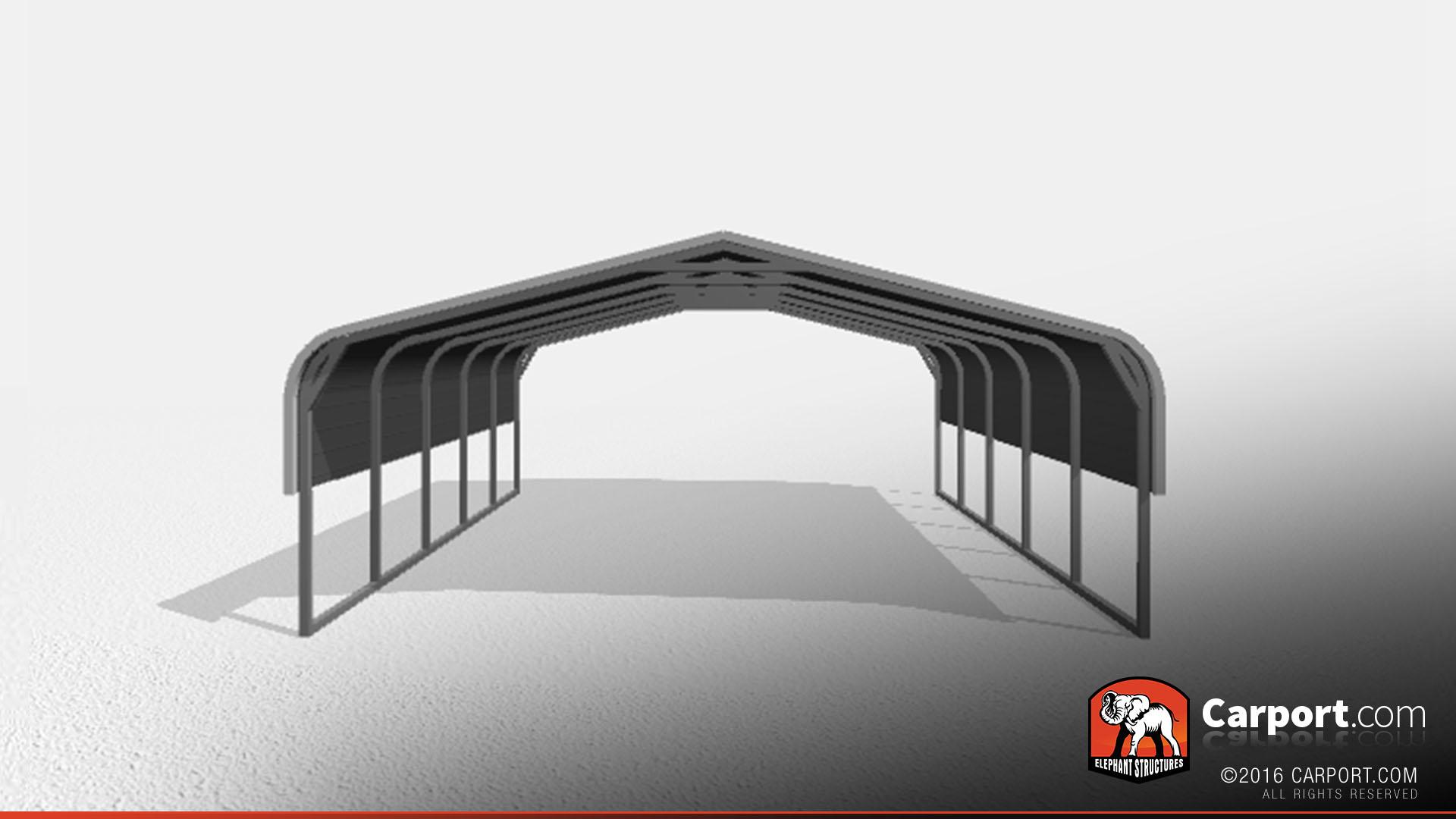 Two Car Metal Carport 18 X 21 X 6 Clearance Carport