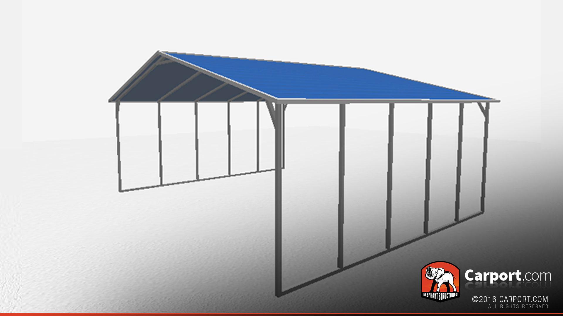 A Frame Steel Carport Triple Wide Shop Metal Buildings
