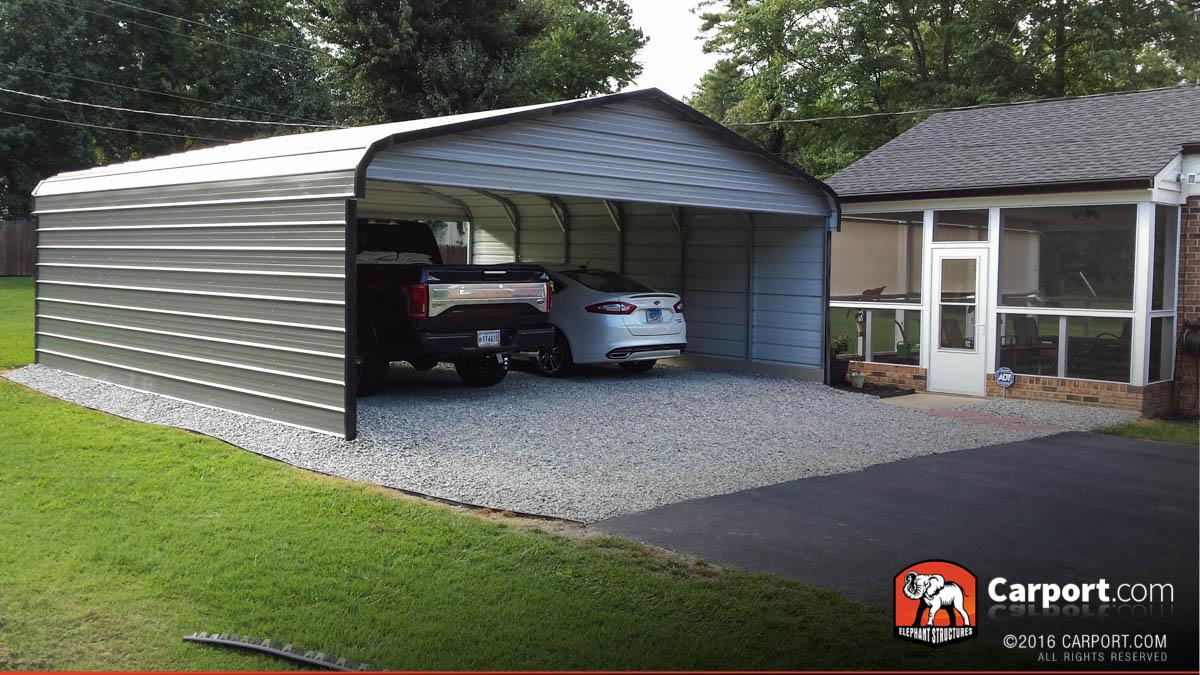 Double Wide Carport 20 X 21 X 8 Shop Metal Buildings