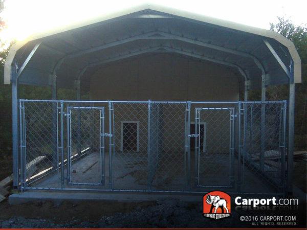Double Wide Carport Shelter 20 X 21 X 5 Shop Metal