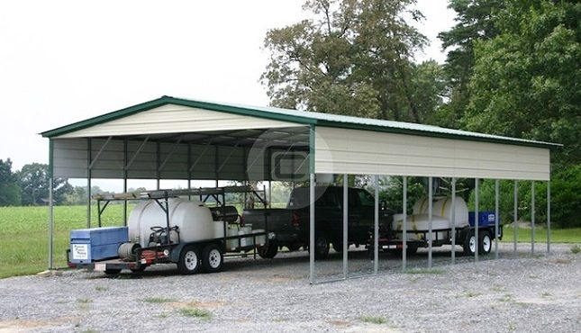 20x41 Vertical Style Carport Agricultural Equipment Building