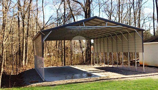 26x41 Triple Wide Carport With Side Panels Metal