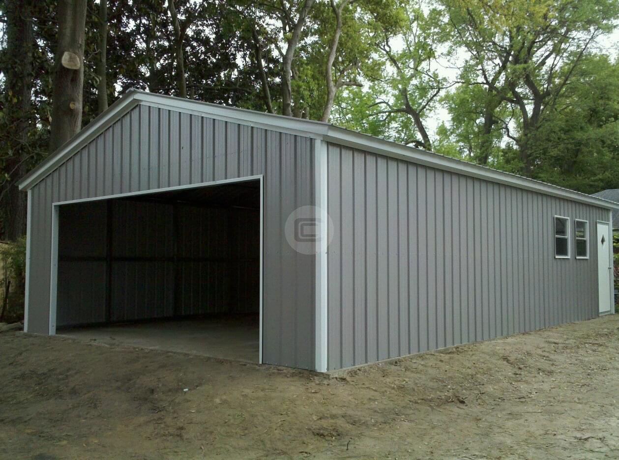 20x41x10 Vertical Garage Building Enclosed Workshop