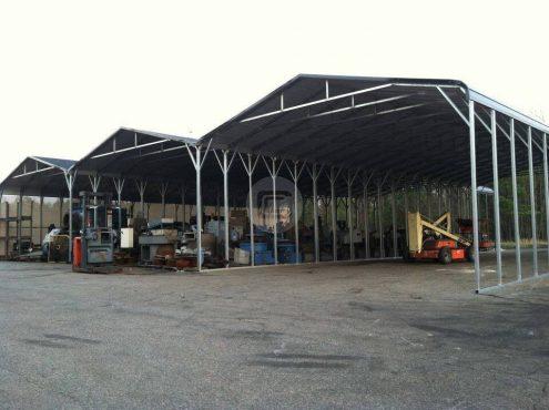 78x80x14 Custom Built RV Carport Regular Roof Steel Carport