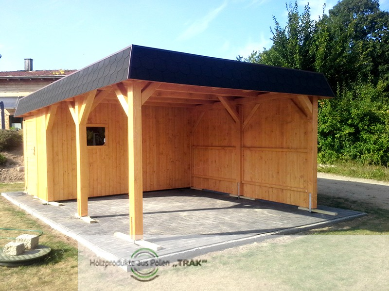 carport dach holz holz carport skanholz schwarzwald. Black Bedroom Furniture Sets. Home Design Ideas
