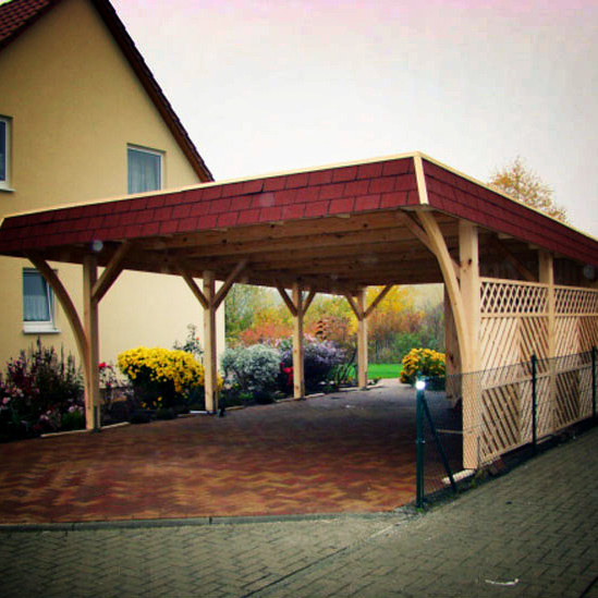 unsere projekte carports aus polen. Black Bedroom Furniture Sets. Home Design Ideas