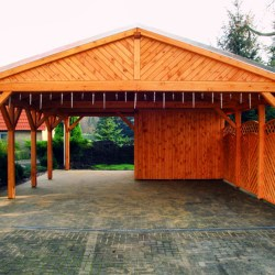 satteldach carport mit gipfel verkleidung holzprodukte. Black Bedroom Furniture Sets. Home Design Ideas