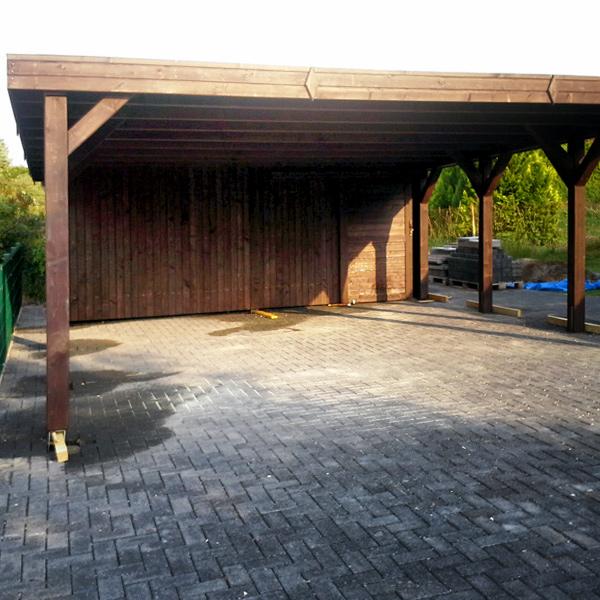 flachdach carports carports aus polen. Black Bedroom Furniture Sets. Home Design Ideas