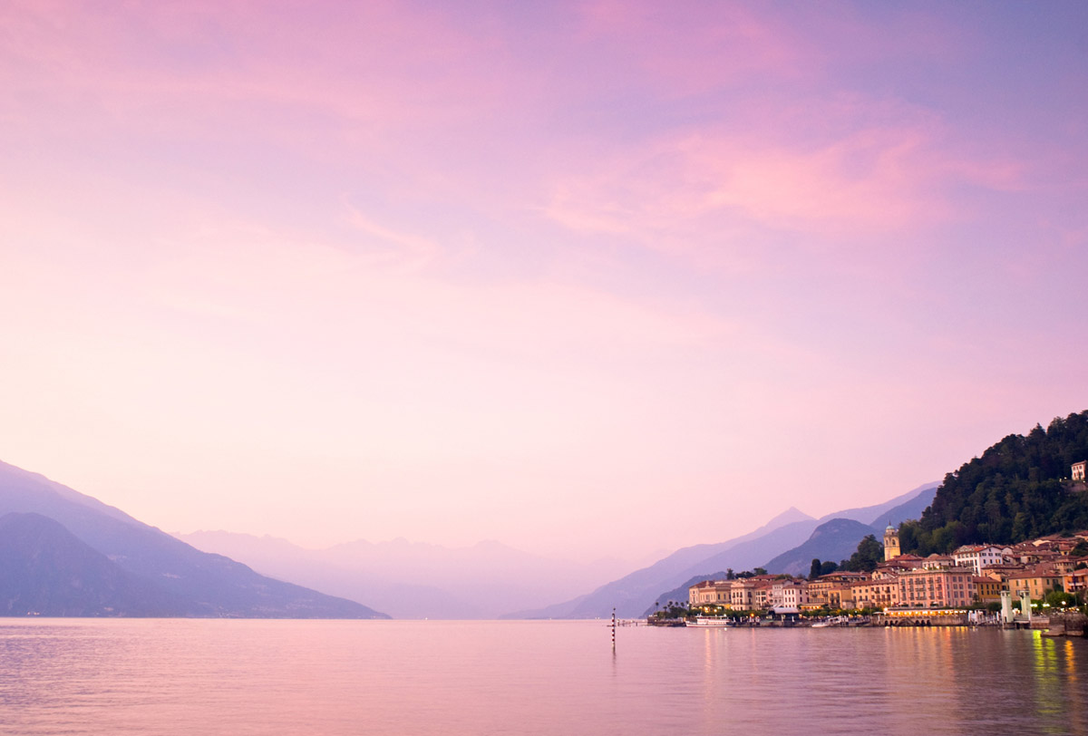 Bellagio in a purple twilight