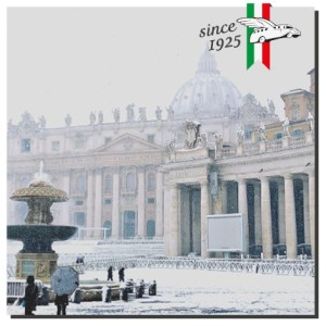 Vatican in the snow