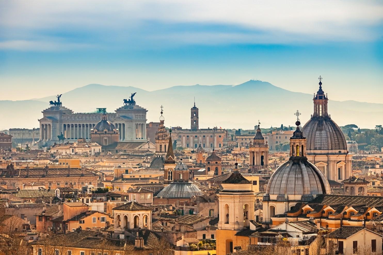 Rome skyline in the morning