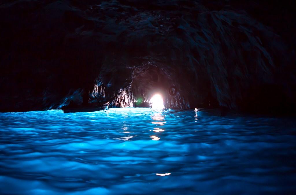 Inside the Blue Grotto, Capri