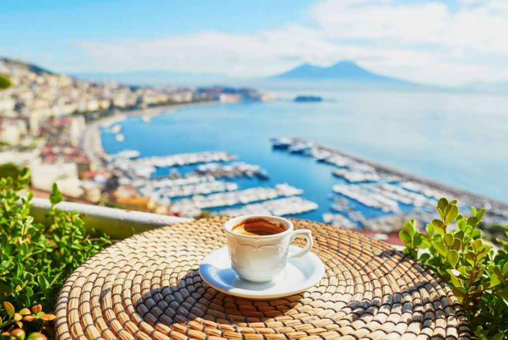 Sipping coffee in Naples