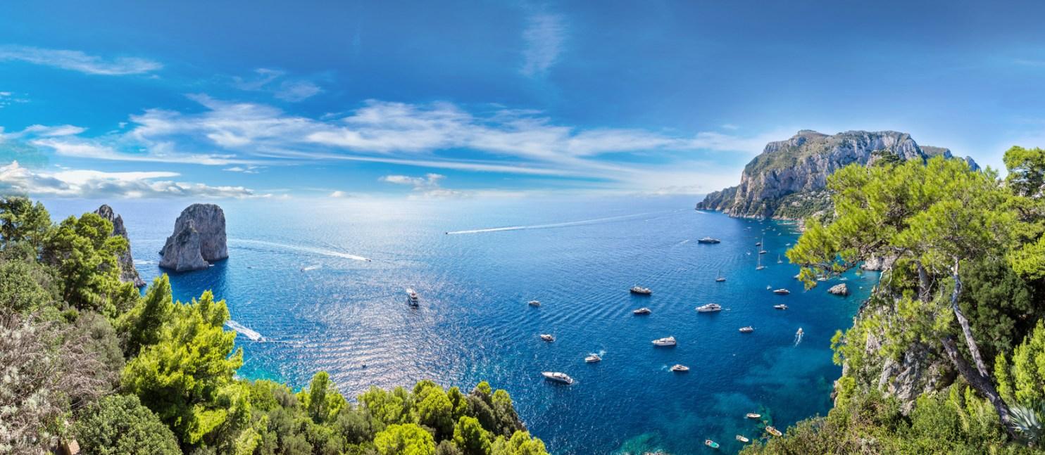 Capri with Faraglioni
