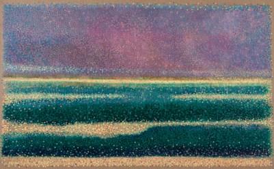 """""""Paysage Imaginaire"""" / """"Imaginary Landscape"""" - Huile sur toile - 81 x 130 cm -"""