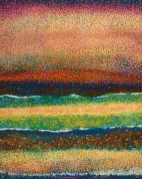 """""""Marine waves"""" - Huile sur toile - 73 x 100 cm"""