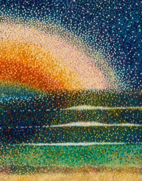 """""""Marine and celestial waves""""- Huile sur toile -73 x 100 cm"""