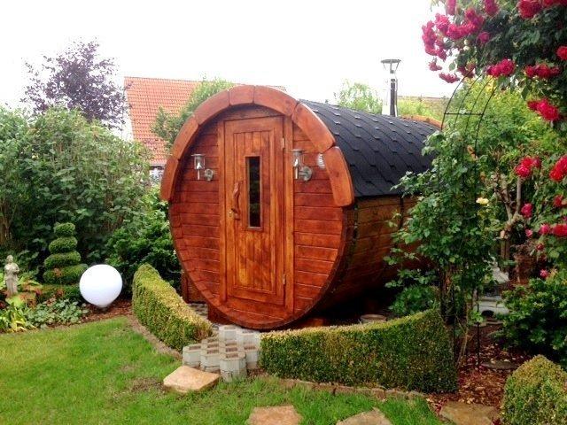 2.4m Wooden Barrel Sauna
