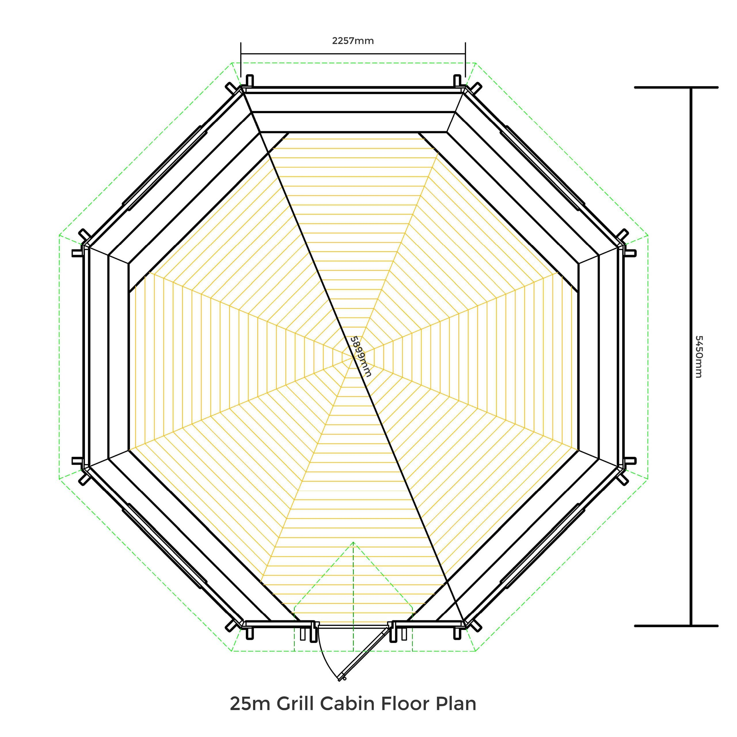 25m grill canbin floor plan